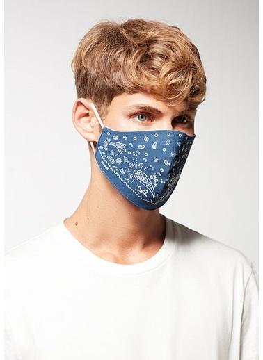 Mavi Unisex  Baskılı Maske 092408-18790 İndigo